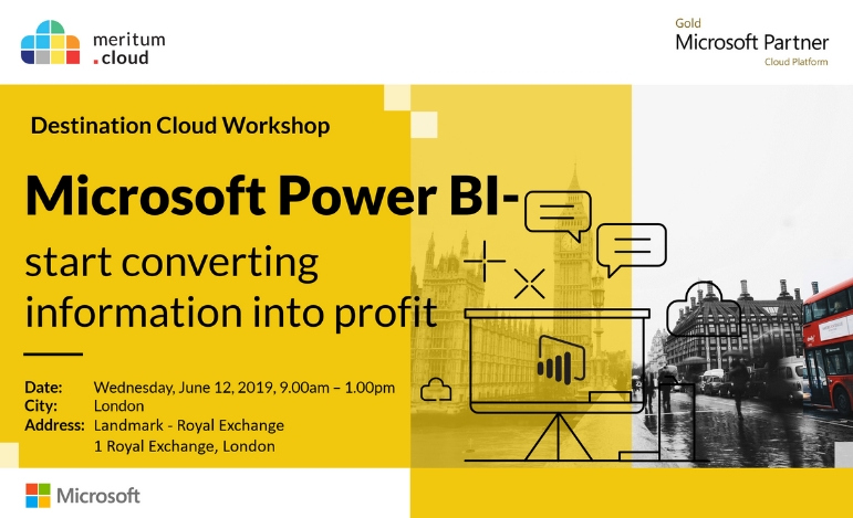 Destination Cloud in London - EBIS exhibitor and speaker at the Power BI event