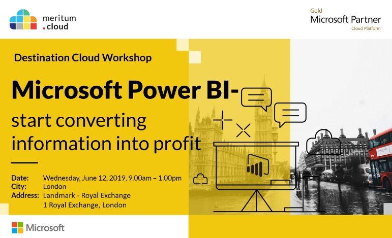 Destination Cloud w Londynie – EBIS wystawcą i prelegentem podczas eventu na temat Power BI